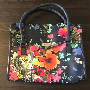 Merona Spring Floral Briefcase Style Bag